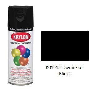 Krylon® Industrial Acryli-Quik™ - Semi-Flat Black - Discount Industrial Hardware Supply