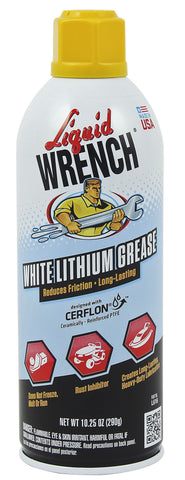 Liquid Wrench White Lithium Grease Spray 11oz - Discount Industrial Hardware Supply