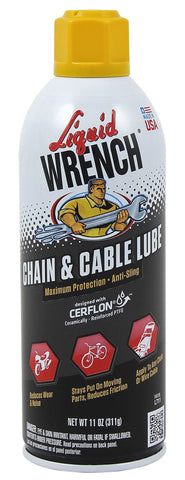 Liquid Wrench Universal Chain Lube Spray 11oz - Discount Industrial Hardware Supply