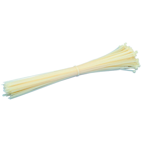 "Cable Ties 14"" Natural/White 50lb Cable Tie - Discount Industrial Hardware Supply"