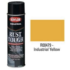 Krylon® Industrial Rust Tough® Acrylic Enamel Aerosol - Industrial Yellow - Discount Industrial Hardware Supply