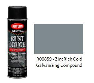 Krylon® Industrial Rust Tough® Aerosol Primers - ZincRich Cold Galv Compound - Discount Industrial Hardware Supply