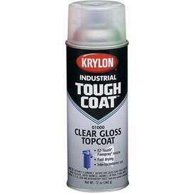 Krylon® Industrial Tough Coat® Acrylic Enamel - Clear Gloss Topcoat (TTL50) - Discount Industrial Hardware Supply