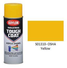 Krylon® Industrial Tough Coat® Acrylic Enamel - OSHA Yellow - Discount Industrial Hardware Supply