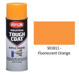Krylon® Industrial Tough Coat® Fluorescents - Fluorescent Orange - Discount Industrial Hardware Supply