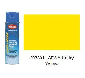 Krylon® Industrial Quik-Mark™ WaterBased Inverted APWA Marking Paint - Utility Yellow - Discount Industrial Hardware Supply