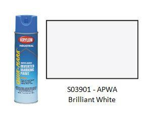 Krylon® Industrial Quik-Mark™ WaterBased Inverted APWA Marking Paint - Brilliant White - Discount Industrial Hardware Supply