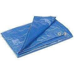 Tarps 40x40 Blue Poly Tarp w/ Grommets - Discount Industrial Hardware Supply