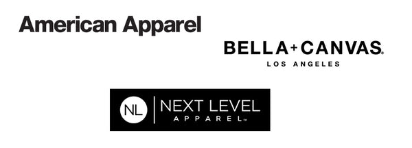 Bella + Canvas, American Apparel, Next Level Apparel Logo