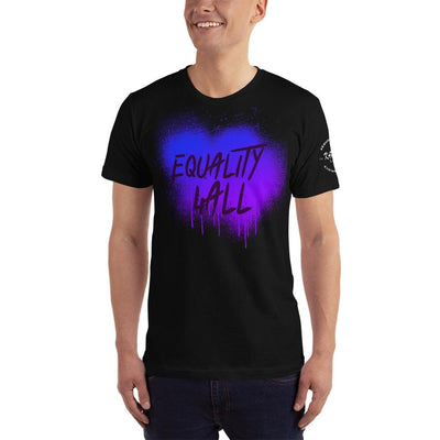 "Karma Inc Apparel  Black / XS Karma Inc Apparel ""EQUALITY 4 ALL"" Sprayed Look American Made Men's T-Shirt"