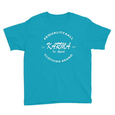 Karma Inc Apparel  Caribbean Blue / XS Karma Inc Apparel #EQUALITY4ALL Logo Youth T-Shirt
