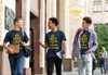 "Karma Inc Apparel  Karma Inc Apparel ""KEEP CALM AND SPREAD KINDNESS"" Maize And Blue Men's American Made T-Shirt"