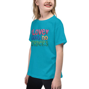 """Love Knows No Borders"" Youth T-Shirt - Karma Inc Apparel"