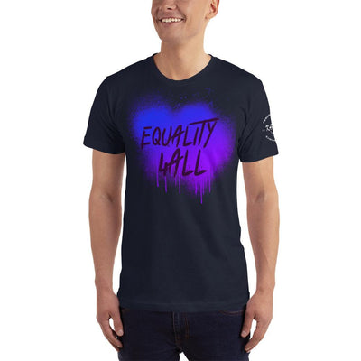 "Karma Inc Apparel  Navy / XS Karma Inc Apparel ""EQUALITY 4 ALL"" Sprayed Look American Made Men's T-Shirt"