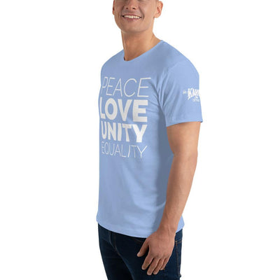 Peace| Love| Unity | Equality Men's T-Shirt - Karma Inc Apparel
