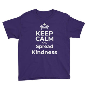 """Keep Calm And Spread Kindness Youth T-Shirt - Karma Inc Apparel"