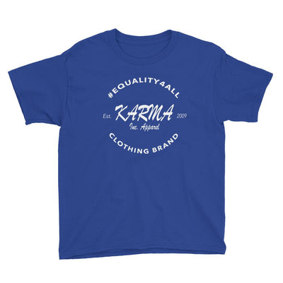Karma Inc Apparel  Royal Blue / XS Karma Inc Apparel #EQUALITY4ALL Logo Youth T-Shirt