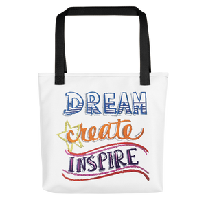 "Karma Inc Apparel ""Dream, Create, Inspire"" Tote Bag - Karma Inc Apparel"
