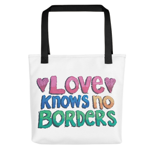 "Karma Inc Apparel ""Love Knows No Borders"" Tote bag - Karma Inc Apparel"