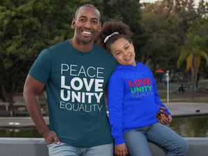 Peace | Love | Unity | Equality Kids Hoodie - Karma Inc Apparel