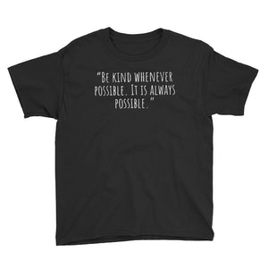 "Karma Inc Apparel  Youth T-Shirt Black / XS Karma Inc Apparel ""Be Kind Whenever Possible"" Youth T-Shirt"