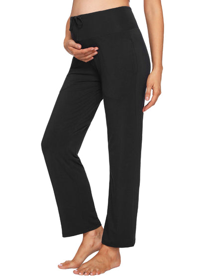 Women's Pregnancy Maternity Sleep Lounge Pockets Pants - Latuza
