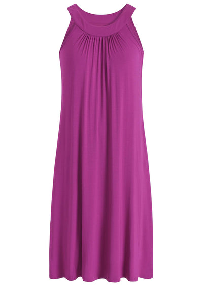 Women's Bamboo Viscose Sleeveless Nightgown with Pockets