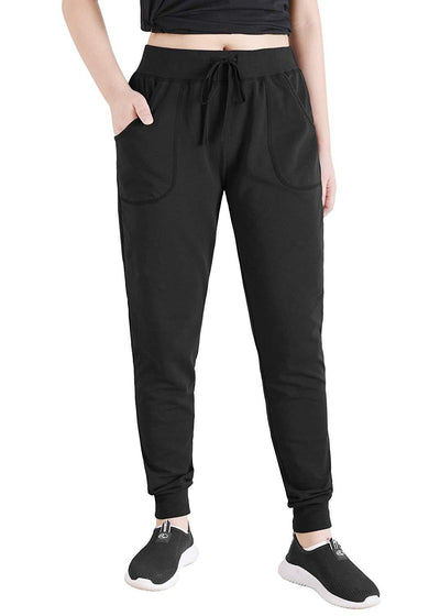 Women's Cotton Joggers Jersey Sweatpants with Pockets - Latuza