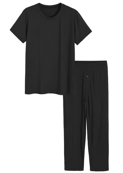 Men's Bamboo Viscose Pajamas Set Shirt and Pants with Pockets - Latuza