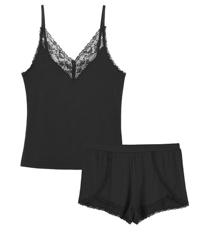 Women's Cami Pajama Short Sets Two Piece Lace Sleepwear