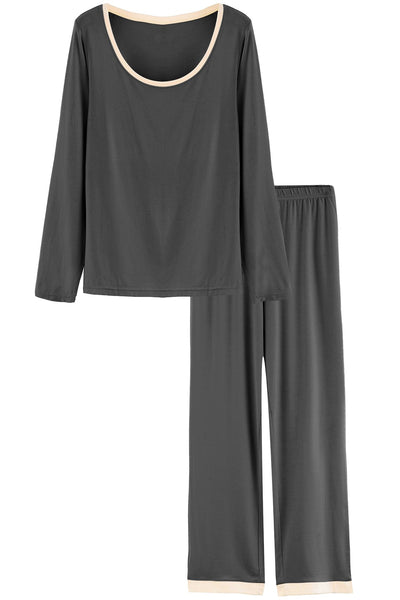 Women's Long Sleeves Bamboo Pajama Set - Latuza