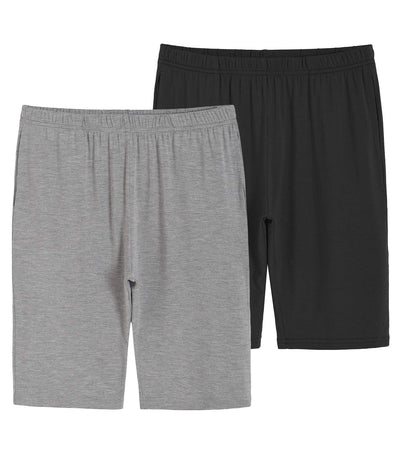 Boys' Girls' 2 Pack Bamboo Viscose Knit Shorts with Pockets - Latuza
