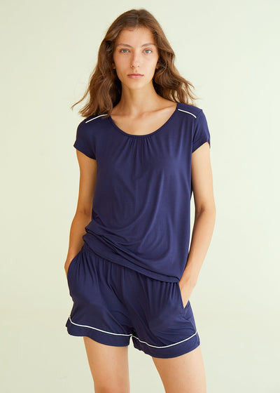Women's Short Bamboo Viscose Pajama Set - Latuza