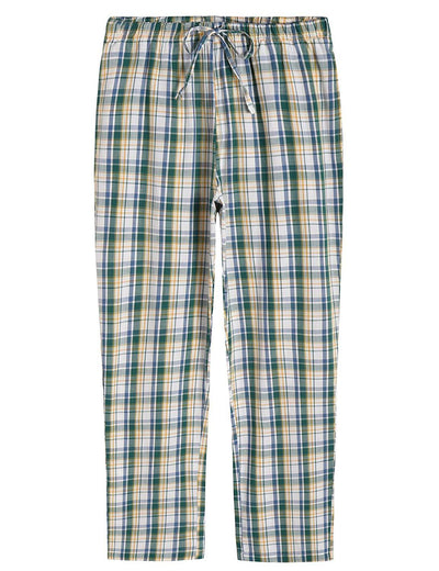 Women's Plaid Pajamas Pants Cotton Sleepwear with Pockets - Latuza
