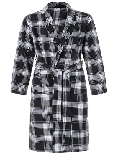 Men's Cotton Flannel Robe - Latuza