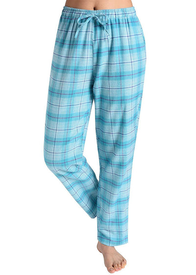 Women's Pajama Pants Cotton Lounge Pants Plaid PJs Bottoms - Latuza
