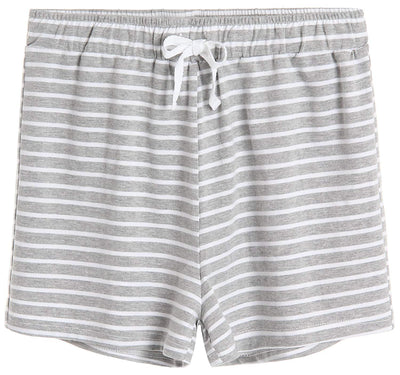Women's Cotton Striped Pajama Shorts - Latuza