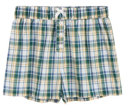 Women's Sleepwear Cotton Plaid Pajama Boxer Shorts - Latuza