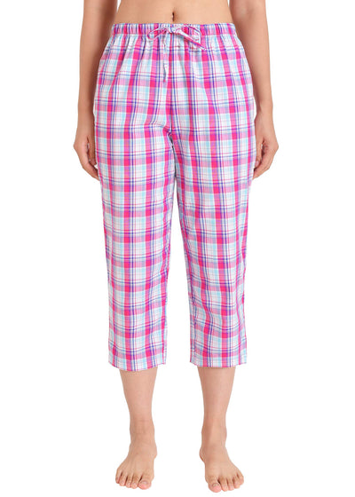 Women's Capri Pajama Pants Cotton PJ Bottoms with Pockets - Latuza