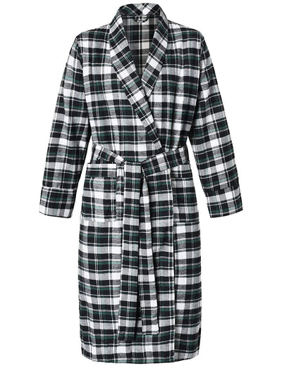 Women's Cotton Flannel Robe - Latuza