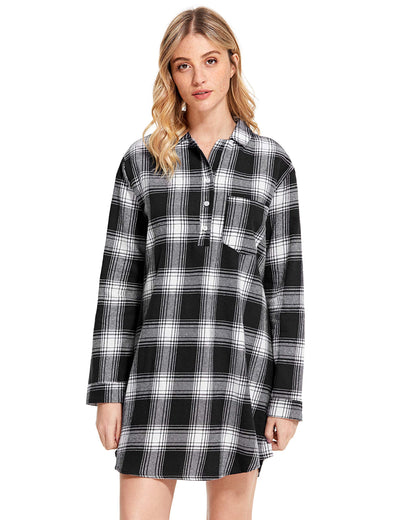 Women's Cotton Flannel Nightgown - Latuza