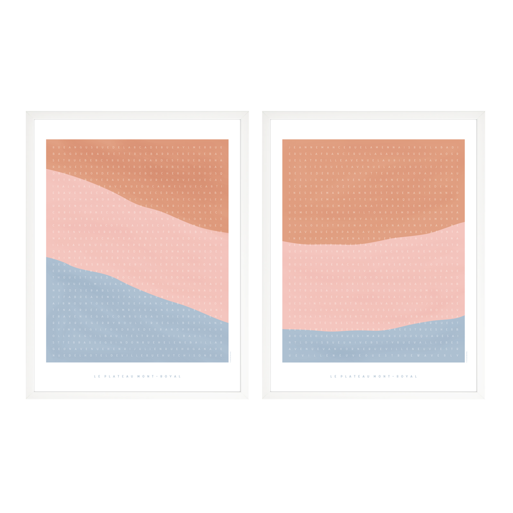 ART PRINT / SET / PLATEAU MOUNT-ROYAL