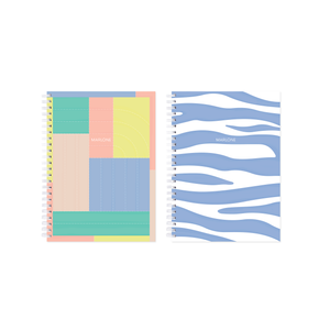 SET 2 NOTEBOOKS / PATCHWORK + ZEBRA