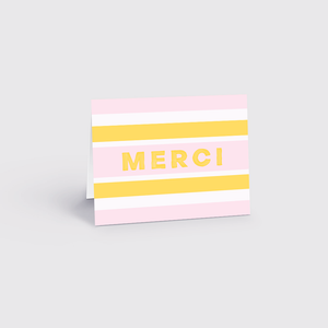 LOT 6 CARTES DE SOUHAITS / MERCI