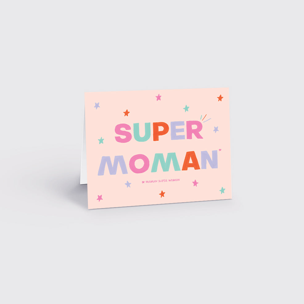 GREETING CARDS / SUPER MOMAN