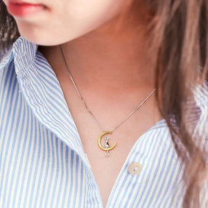 Cat Moon Necklace