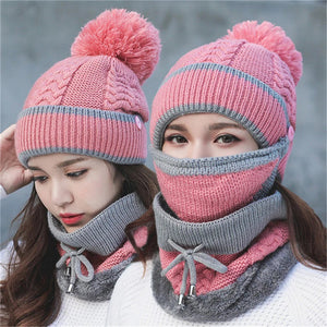 Womens Winter Scarf 3PCS Set