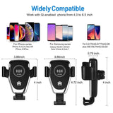 Fast Qi Wireless Smartphone Car Charger