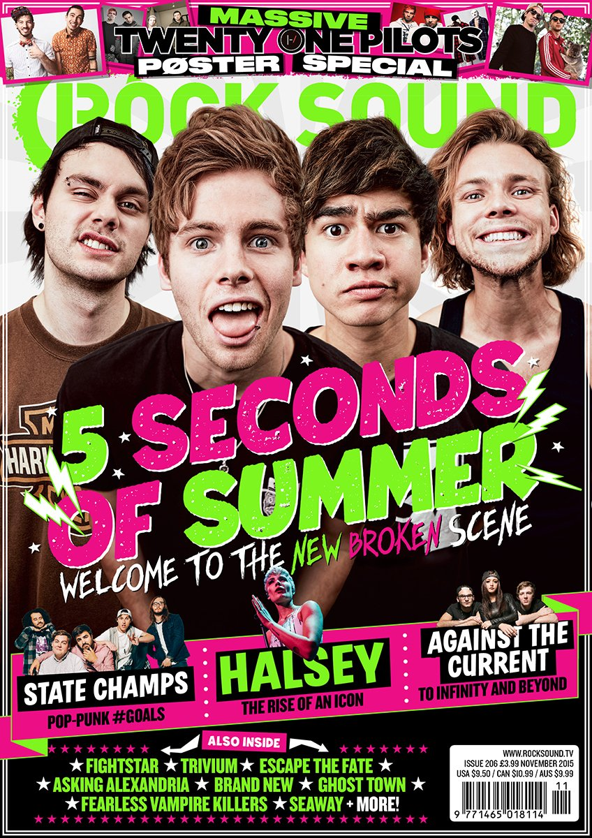 Rock Sound Issue 206 - 5 Seconds Of Summer