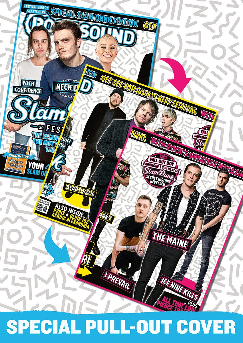 Rock Sound June issue 226 Slam Dunk Special featuring Neck Deep, Tonight Alive, With Confidence, Enter Shikari, Waterparks, Beartooth, I Prevail, The Maine and Ice Nine Kills.